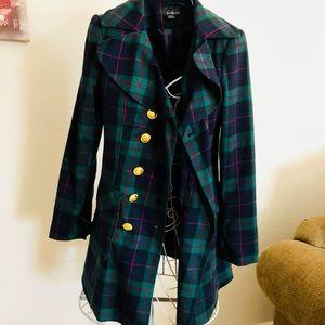 FOREVER 21 Plaid Pea Coat